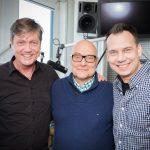 Thomas Koschwitz mit Peter Prange l. und Sebastian Fitzek r.