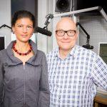 Thomas Koschwitz mit Sahra Wagenknecht