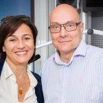 Thomas Koschwitz mit Sandra Maischberger